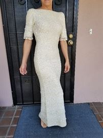 1960s Gene Shelly Beaded gown