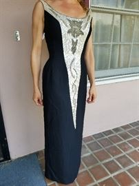 Fabulous 1960s beaded, sequined gown