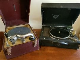 Victrola suitcase record players