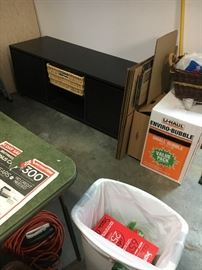 TV table with storage.  Modern.  Expresso/Black.