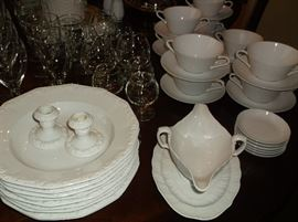 Rosenthal china and cream soups w/liners