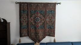 Large Moroccan Wall Tapestry - Hanging Hardware Included