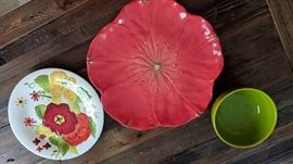 Dishware - set of plates, salad dishes and soup bowls