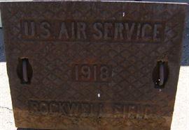 1918 manhole cover