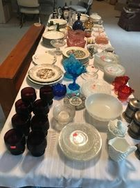 Glassware - Fenton, Cut Glass, Milk Glass, Depression Glass