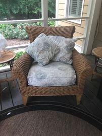 Ethan Allen wicker chair