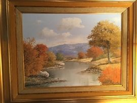 Hill Country oil painting on canvas by Texas artist Jerry Ruthven