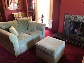 Beautiful Living Room Pistachio Color Couch Set