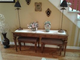 Console table with seating