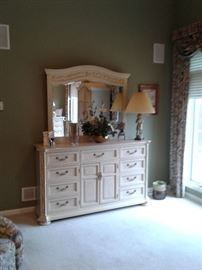 Large dresser with mirror