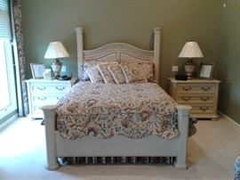 Master bedroom suite with Yemen bed....pair of bachelor chests as side tables