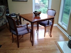 Game table with chairs