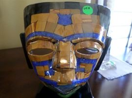 Mexican Unique Handcrafted mask using lapiz, black onyx