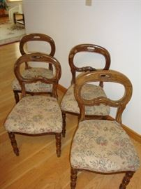 (4) Antique Italian Upholstered Chairs