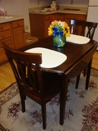 Drop Leaf Table & (2) Chairs~Area Rug