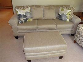 Sofa & Ottoman by Evan