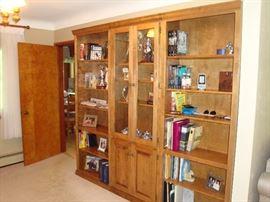 (3) Piece Solid Wood Bookcase Unit