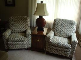 Pair of Custom Recliner Chairs by La-Z-Boy