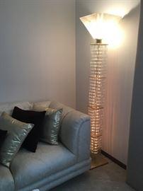 Amazing glass rod floor lamp lit up!