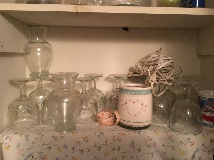 More vases, glasses