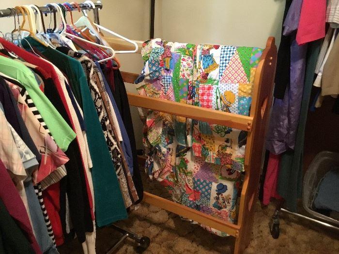 Vintage large quilt rack