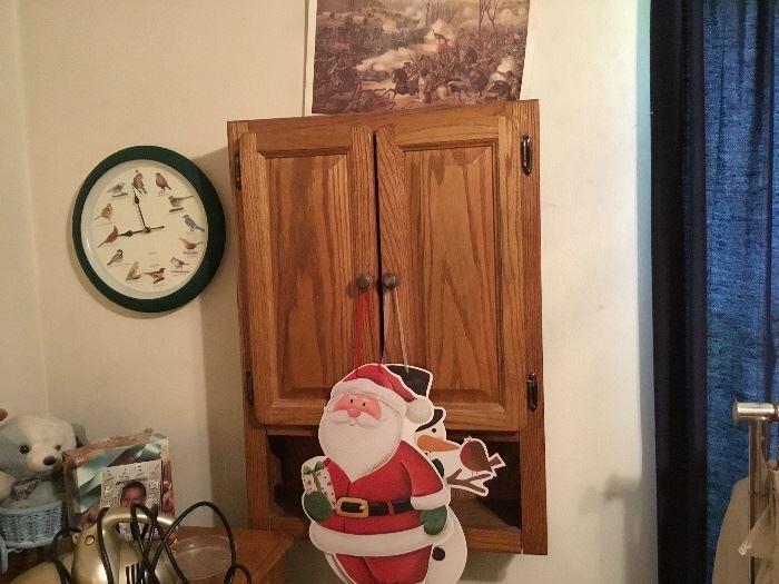 Clocks, wall storage shelf