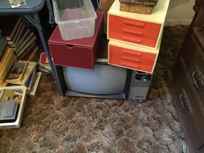 Older tv & storage items