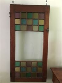 Gorgeous antique stained glass door - one of a pair