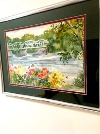 Many Signed Pieces Including This Nice Watercolor...