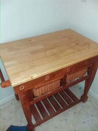 kitchen island . butcher block 100
