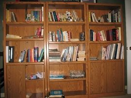 Three book shelves