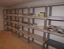 10 Plus Sections of PVC Plastic Shelving