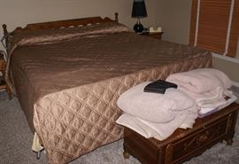 King Size Bed Mattress & Foundation, Head Board & Frame, Bedding
