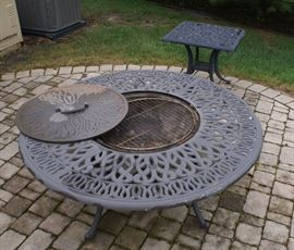 Outdoor Free Standing Copper & Iron Fire Pit