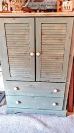 Sage green/white-washed Cabinet