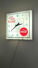 Vintage coke light clock