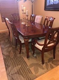 Mahogmony Table and 6 chairs