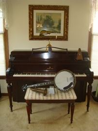 Steinway & Sons Model 40 upright piano w/ bench