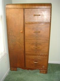 Art Deco cedar lined wardrobe