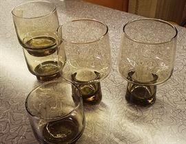Stacking smoke glasses, various sizes