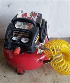 brand new pancake air compressor with coil hose
