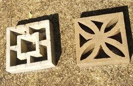Vintage decorate Breeze Blocks - 4 of each design