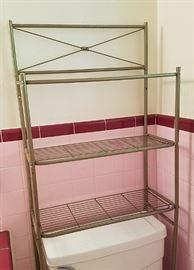 Vintage over toilette storage shelf