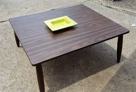 MCM coffee table. One of many vintage ashtrays