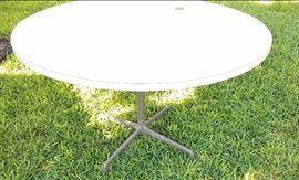 Eames aluminum group patio table