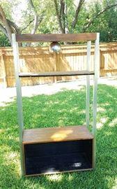 Cool 70's shelving unit - eyeball light works!