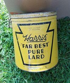 Large antique storage tin