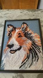 hand stitched collie portrait