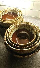 Everstone Stoneware large Nesting bowls