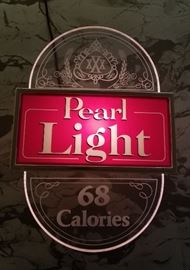 (Working!) vintage Pearl Beer - low calorie - lighted sign